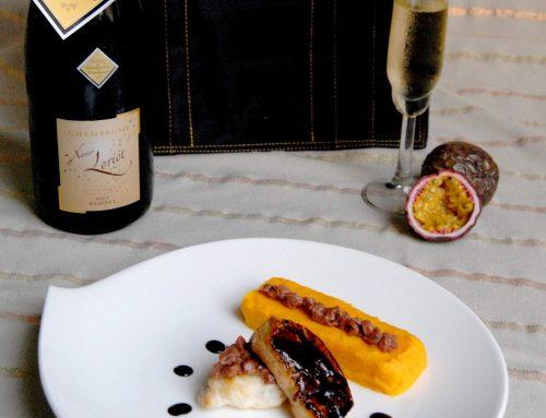 Médaillon de lotte, tartare de magret de canard, foie frais, purée de potimarron et du champagne à gagner
