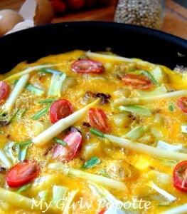 omelette printanière my girly popotte