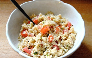 salade de semoule tomate herbes fraiches
