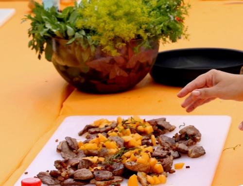 Magret de canard aux saveurs asiatiques et melon poêlé