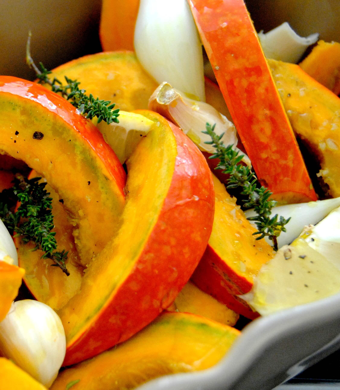 Potimarron r ti au four recette de sonia ezgulian - Cuisiner un potimarron ...