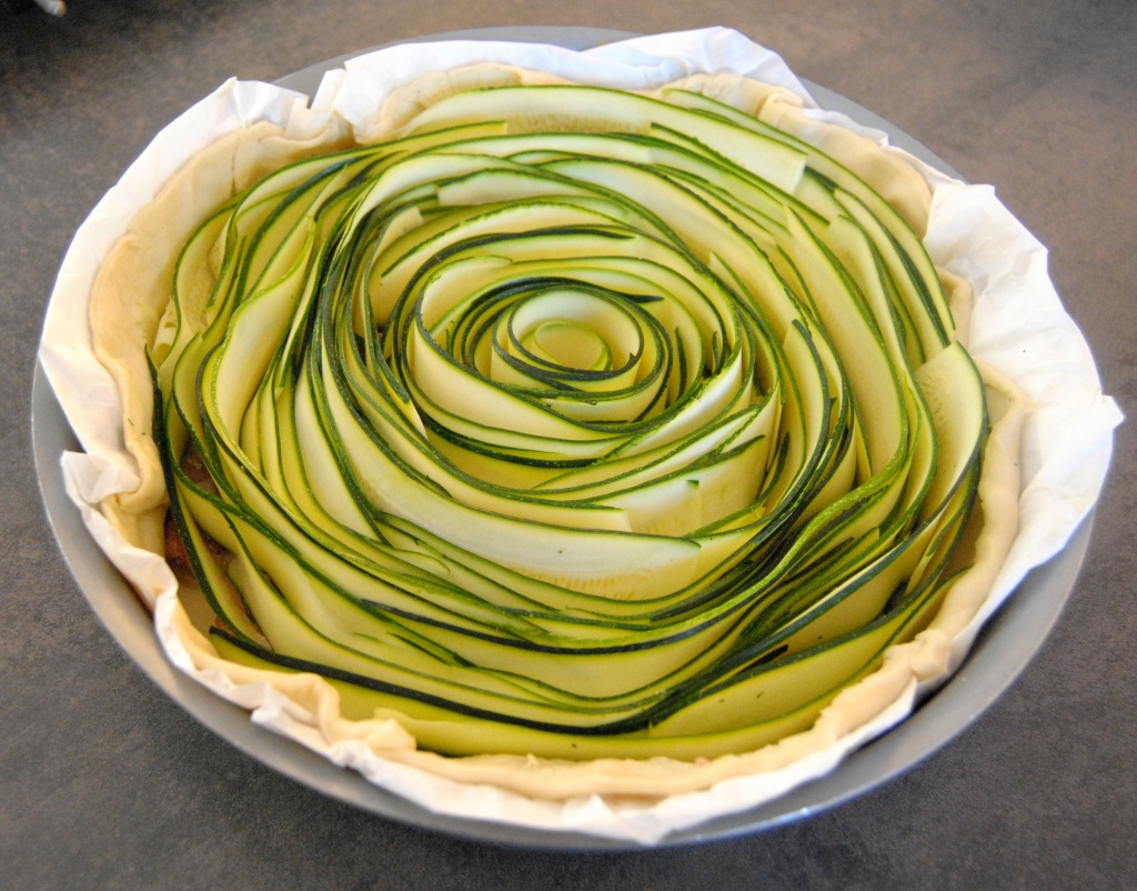 tarte spiral courgettes