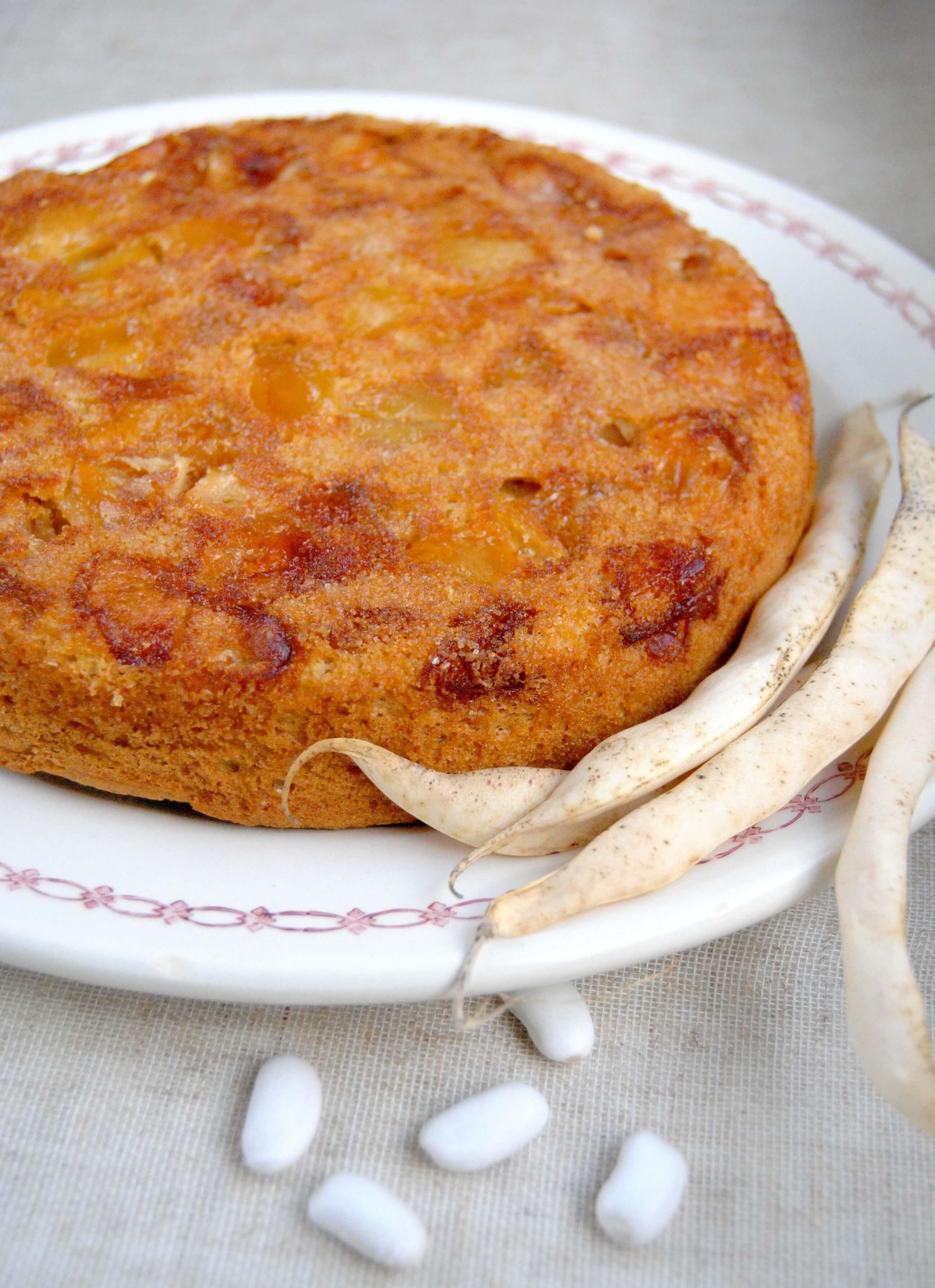 gâteau haricots tarbais pomme cannelle 1