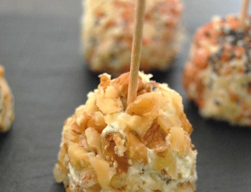 Bouchées au fromage frais et aux fruits secs