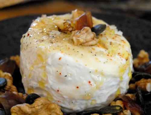Fromage de chèvre au miel et fruits secs
