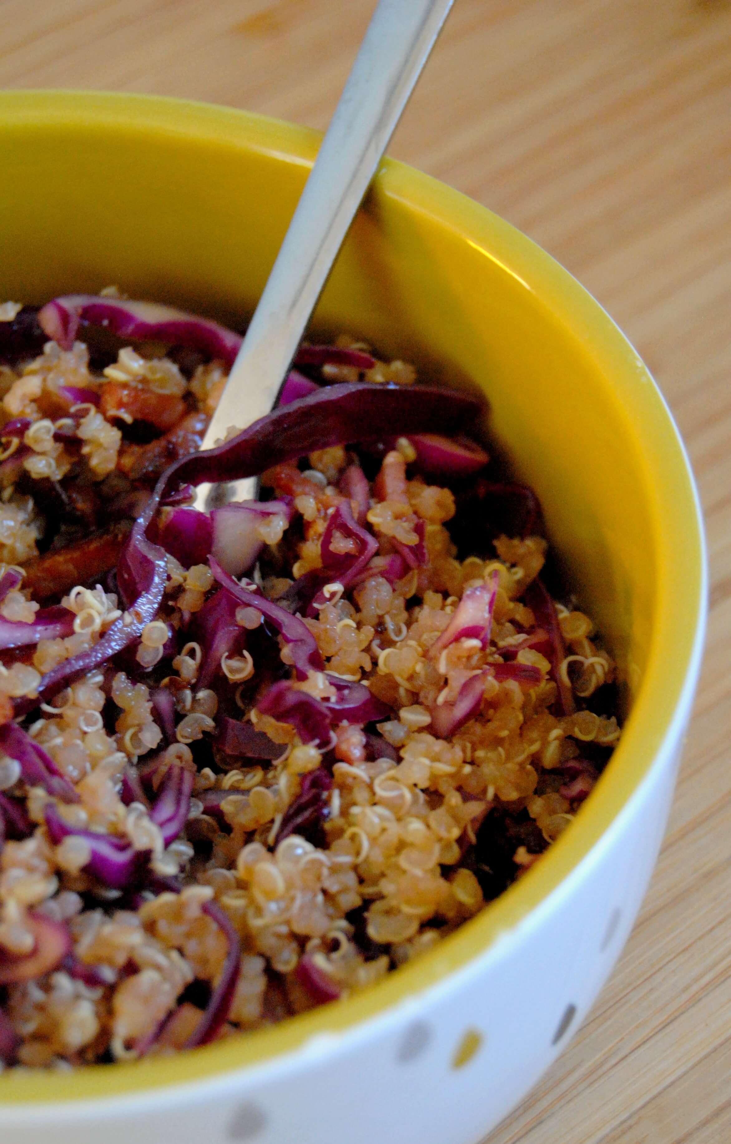 Salade Au Quinoa Et Choux Rouge Recettes My Girly Popotte - Cuisiner du chou rouge