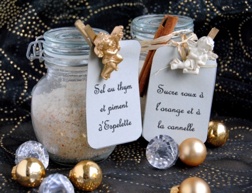 Cadeaux gourmands – Sel et sucre arômatisés