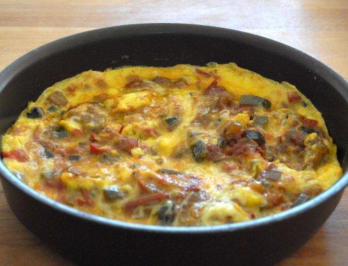 Omelette à la ratatouille recette anti-gaspi
