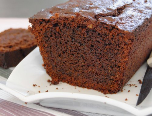 Gâteau au chocolat et purée d'amande