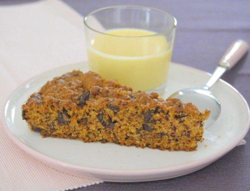 Gâteau à la chapelure, chocolat et amande