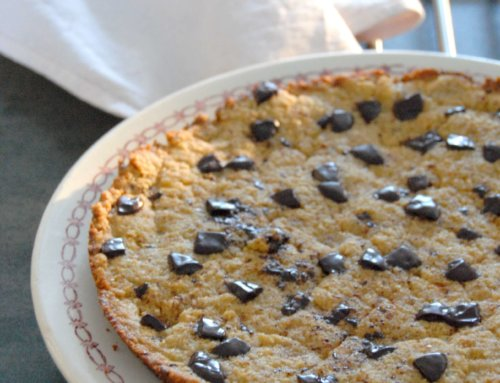 Cookie noisette et chocolat cuit à la poêle