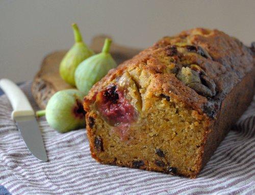 Cake aux figues, patate douce et épices