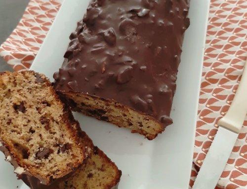 Cake banane chocolat et glaçage rocher
